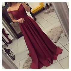 Burgundy Prom Dress, Off The Shoulder Formal Gown ,Party Dress Long,... ❤ liked on Polyvore featuring dresses, gowns, long evening dresses, long evening gowns, burgundy long dress, purple formal gowns and formal dresses