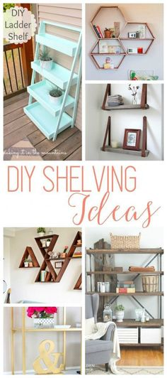 Diy Crafts Ideas : DIY Shelving Ideas 18 Shelves that are not only super CUTE but would be fun to