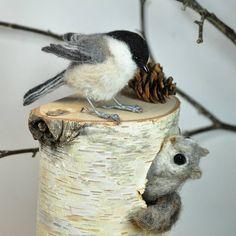 «羊毛フェルト★コガラとエゾモモンガ♪ Needle felted/Willow tit & #Russian flying squirrel * よい一日を・・・・ Have a nice day♪ * #羊毛フェルト #コガラ #エゾモモンガ #モモンガ#ニードルフェルト #鳥 #小鳥#動物…»