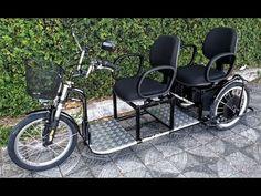 Funcionamento do triciclo elétrico advanced 2000 watts para duas pessoas da marca Wind Bikes - YouTube E Bicycle, Velo Cargo, Weird Inventions, Tricycle Bike, Weird Cars, Kids Seating, Pedal Cars, Outdoor Toys, Bike Design