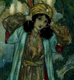 Edmund Dulac - ''Beauty discovers a room in the castle which if full of screaming parrots'' (detail) Children's Book Illustration, Botanical Illustration, Book Illustrations, Japanese Art Samurai, Edmund Dulac, Kids Story Books, Wedding Art, Animal Tattoos, Female Art