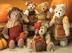 Boyds bears - dressed for Fall