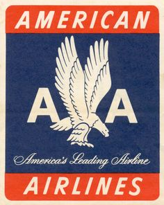 Vintage American Airlines Sticker Label