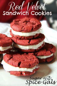 Spice Gals: Red Velvet Sandwich Cookies