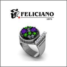 Hola feliciamig@s. ¿Qué os parece el nuevo anillo de la colección History que Feliciano joyeros os presenta? Con solo cambiar la pieza de la parte superior y conseguireis 20 modelos diferentes. Buen día