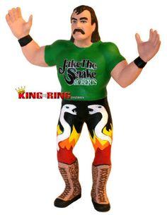 WWF LJN Custom Jake The Snake Roberts Wrestling Figure WWE Remco AWA WCW 1988 | eBay