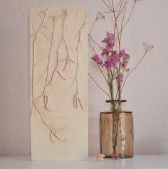 Wanddeko - Birken - ein Designerstück von Lena_Bauer_ bei DaWanda Birken, Designer, Macrame, Glass Vase, Craft Ideas, Etsy, Crafts, Home Decor, Art
