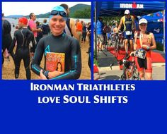 IRONMAN TRIATHLETES LOVE SOUL SHIFTS!  Transformation isn't just for yogis or new-age enthusiasts--it's for everyone! I just received these fantastic photos from one of my New York students, Maria, who's reading my book Soul Shifts. The photos were taken this weekend at the Ironman Triathlon in Mont-Treblant, Quebec Canada. See more from Maria here: http://on.fb.me/1e2pxDT Learn more about how Soul Shifts can help you accomplish your goals and manifest your dreams.