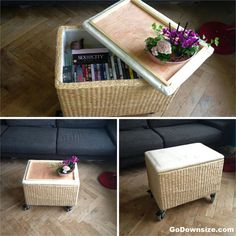 Space saving ideas for storage in the living room | http://www.godownsize.com/space-saving-ideas-living-room-storage/