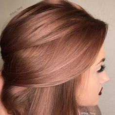brown rose gold hair color