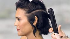 Hey, Hair Genius - How to Curl Short Hair With a Flat Iron