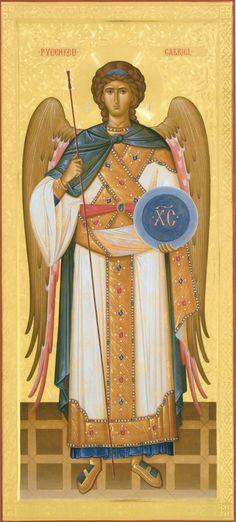 Archangel Uriel, Byzantine Art, Religious Icons, Catholic Saints, Orthodox Icons, Christmas Angels, Paper Dolls, Medieval, Religion