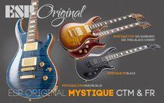 New Mystique series from ESP Guitars.