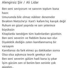 Alengirsiz şiir   Ben seni seviyorum ve sanıyorum toplum buna hazır Ali Lidar