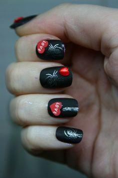 Black Nail Art Designs and Ideas (45)