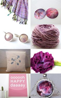 HandmadeandHeritage featured my hand dyed purple threads