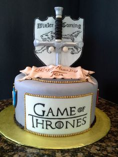 Game of Thrones cake Game of Thrones Cake 415 Source by Game Of Thrones Kuchen, Game Of Thrones Cake, Sword Cake, Torta Angel, Game Of Thrones Birthday, Got Party, Cake Games, Cakes For Boys, Birthday Cakes