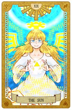"""bearerofwisdom: """" Pixiv's Legend of Zelda Tarot Project (Part 3) 