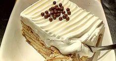 Cold Deserts, Greek Desserts, Custard Cake, Greek Dishes, No Bake Cake, Cake Recipes, Bakery, Frozen, Food And Drink