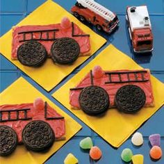 Firetruck Cookies- I'm making these for Patton's class so no one else make them!