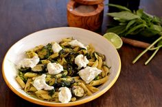 Pasta and fried Zucchini Salad- Yotam Ottolenghi recipe- delish!