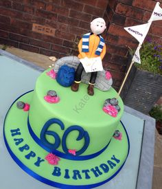 60th Hiker/rambler cake Dad Cake, Adult Birthday Cakes, Special Day, Climbing, Hiking, Desserts, Projects, Recipes, Kids