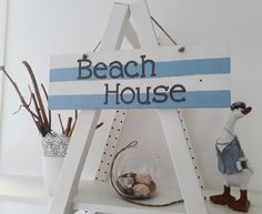 Beach House Rustic hand designed and painted reclaimed wood wall sign. Available from Etsy The Painted Shack Store Upcycled Furniture, Painted Furniture, Festival Decorations, Hand Designs, Unique Home Decor, Wall Signs, Wood Wall, Beach House, Shabby Chic