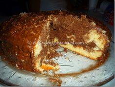 PASTEL MARMOLEADO Con cubierta de Betún Alemán. Receta  Es una delicia este pastel!