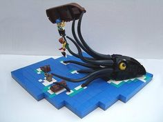 Bateau Lego, Legos, Lego Bridge, Lego Dragon, Lego Boat, Lego Universe, Construction Lego, Lego Creative, Micro Lego