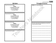 Fractions Menu Project by Innovative Teacher