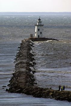 Saybrook Breakwater Lighthouse, Connecticut.I want to visit here one day.Please check out my website thanks. www.photopix.co.nz