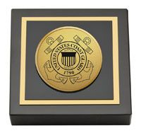 United States #CoastGuard Paperweight - Black marble paperweight features a two-toned engraved medallion of the United States Coast Guard insignia. #Military