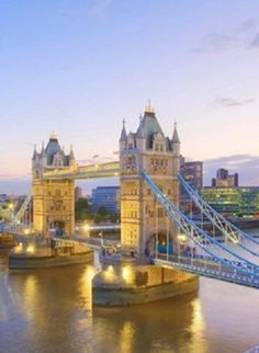 britain river thames and tower bridge at dusk london england, United Kingdom Oh The Places You'll Go, Places Around The World, Places To Travel, Places To Visit, Around The Worlds, Tower Bridge London, Brooklyn Bridge, Thinking Day, City Landscape