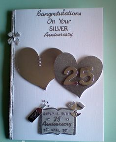 Personalised 25th Silver Anniversary Card. £4.99, via Etsy.