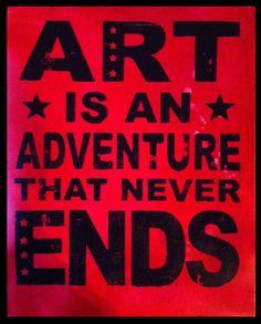 "'Art is an Adventure' 16""x20"" Acrylic on Canvas #kwakart"