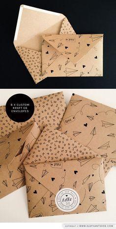DIY origami money envelopes 12 Artistic Envelope Ideas - The Artistic Envelope Ideas Envelope Art, Envelope Design, Origami Envelope, Origami Letter, Envelope Pattern, Art Postal, Kraft Envelopes, Cute Envelopes, Paper Envelopes
