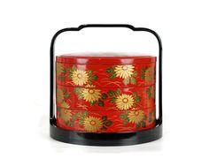 Jubako Bento Box Japanese Stacking Lunch Box Fall Colors Chrysanthemum by GizmoandHooHa on Etsy