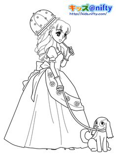 Shoujo Style Coloring Pages