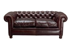 Rochester Leather 2 Seater Sofa - Laura Ashley made to order