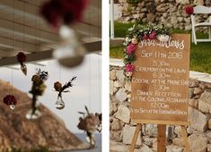 Wedding signs, wedding decor, custom made wedding programme | Luxury wedding in Greece