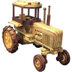 This Farm Tractor is another one for the farm tractor collector. This Farm Tractor has great attention to detail. If you want this tractor as part of your collection, use our Farm Tractor Woodworking Plan and get started today. Woodworking Bench For Sale, Woodworking Jointer, Woodworking Supplies, Woodworking Classes, Shed House Plans, Diy Shed Plans, Prefabricated Sheds, Building A Shed Roof, Wood Toys Plans