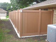 Wood Grain Vinyl Privacy Fence Future Outdoors Dallas Texas