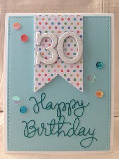 d587a0eb748b8  SSSFAVE -30th Birthday Card - January 2015-using Simon Says Stamp Bundle of