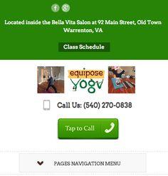 New responsive website for Equipose Yoga Studio in Warrenton Virginia