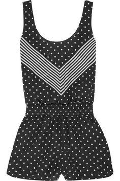 Stella McCartney | Printed cotton and silk-blend playsuit | NET-A-PORTER.COM
