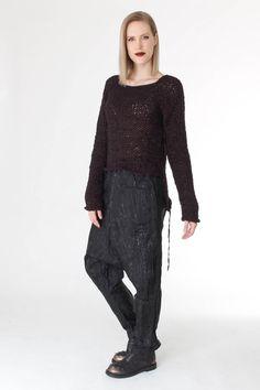 Knitted pullover + spayed pants from rundholz #rundholz #studiorundholz…