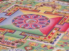 "MANDALA (""circle"") - to focus attention, establish a sacred space, aid to meditation. The basic form is a square with four T-shaped gates containing a circle with a center point. Mandalas Painting, Mandalas Drawing, Mandala Art, Desiderata, Tibetan Sand Mandala, What Is A Mandala, Le Tibet, Wallpaper Computer, Doodle"