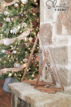 DIY Wooden Ornament Tree | Shanty 2 Chic
