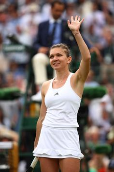 Simona Halep Photos - Simona Halep of Romania celebrates victory during the Ladies Singles fourth round match against Madison Keys of The United States on day seven of the Wimbledon Lawn Tennis Championships at the All England Lawn Tennis and Croquet Club on July 4, 2016 in London, England. - Day Seven: The Championships - Wimbledon 2016