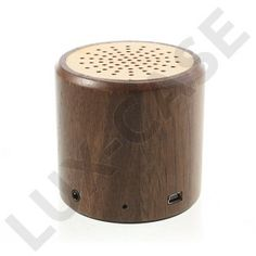 Wireless Bluetooth Mini-Højtaler (Ægte Træ)